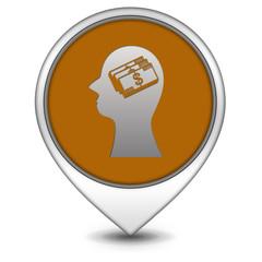 Money pointer icon on white background
