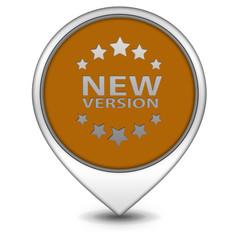 New version pointer icon on white background