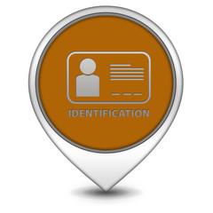 Identification pointer icon on white background