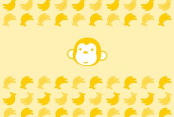 サルとバナナの背景