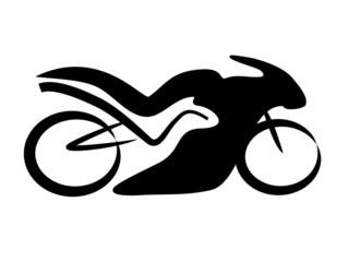 Rennmaschine Motorrad Tribal