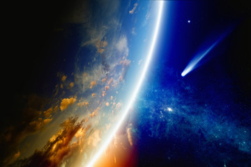 Comet approaches Earth