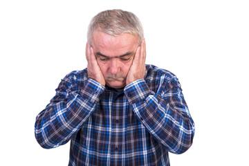 Portrait of a worried senior man