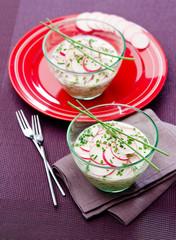 radish sauce tzatziki