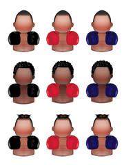 Boxer icons set