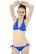 canvas print picture - Schlanker Teenager in Bikini