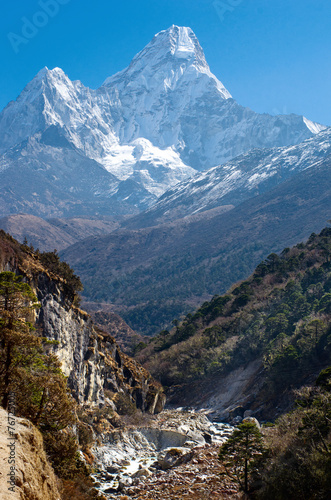 Poster Nepal Ama Dablam massif , Nepal Himalayas