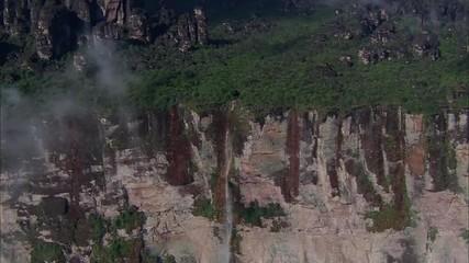 Waterfall Mountain Ridge Trees Rocky