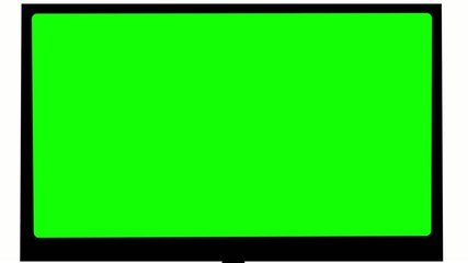 TV.  Green screen.  Camera zooms. With sound.