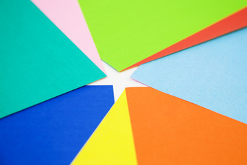 various colors of paper