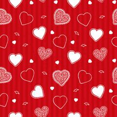 Valentine stripes pattern