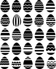 Seamless pattern made of stylized eggs