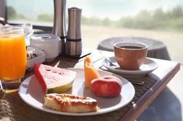 Tasty breakfast in the morning