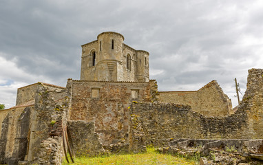 The ruined church of Oradour sur Glane