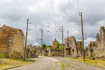 The main street of Oradour-sur-Glane