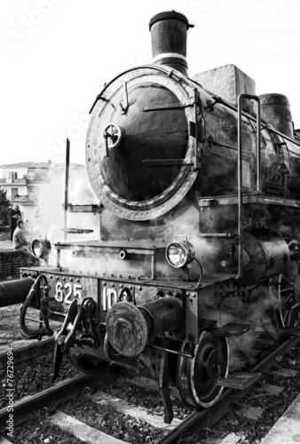 Treno a Vapore - Bianco e Nero - 76729694