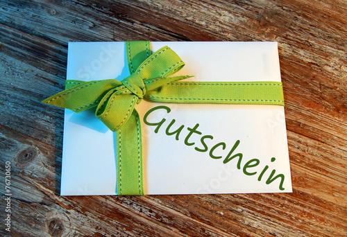 Leinwandbild Motiv Briefumschlag Gutschein