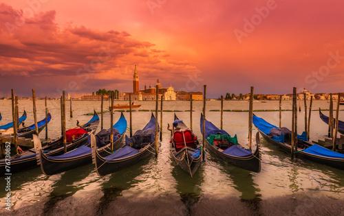 Aluminium Venetie Sunset in San Marco square, Venice. Italy