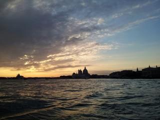 Magic sunset in Venice