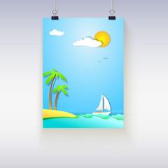 Summer vacation poster.