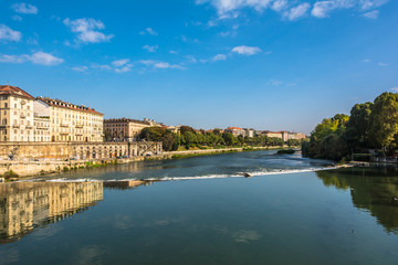 Reflection in the Po River, Turin