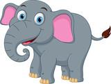 Fototapety Happy elephant cartoon