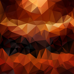 vector polygonal background in fire colors - red, orange, brown