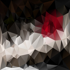 vector polygonal background in dark colors - red, black, white