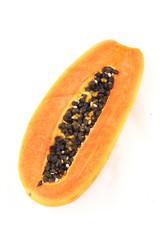 Papaya in white background