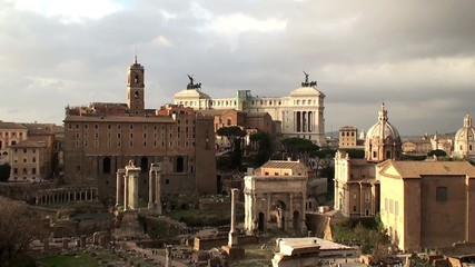 View of the Roman Forum from the Palatine Hill, Rome