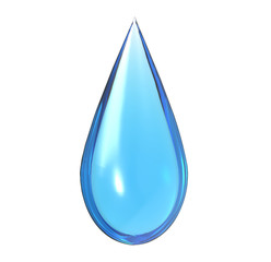 drop of water with white background