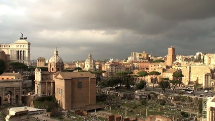 View of the Roman Forum from the Palatine Hill,