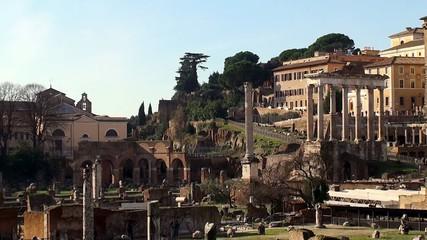 Roman Forum from the Via dei Fori Imperiali road, Rome