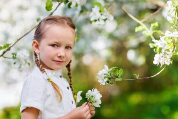 Little girl spring portrait