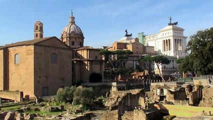 Northwestern part of the Roman Forum. Italy.