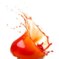 Брызги томатного сока