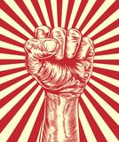 Revolution fist propaganda poster poster