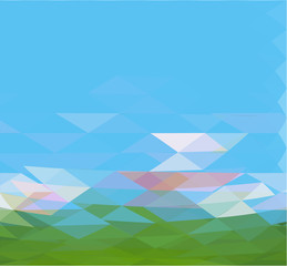 abstract vector moder background with triangle object.
