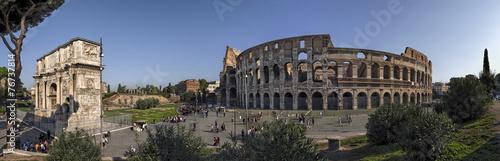Plexiglas Rome Rom Colosseum und Konstantinsbogen