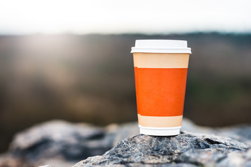 Coffee cup on natural background