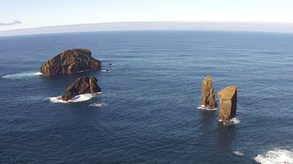 Flying over the High Cliffs and Ocean Waves, Mosteiros