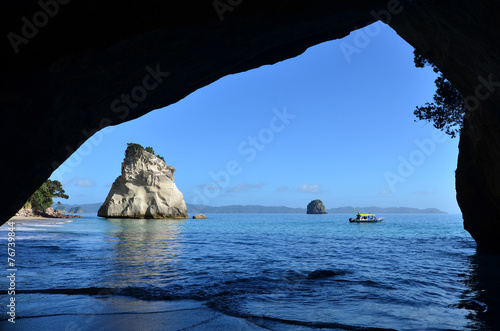 Foto op Canvas Cathedral Cove Te Whanganui-A-Hei (Cathedral Cove) Marine Reserve