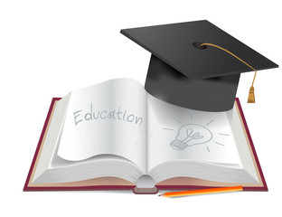 Graduate book end pencil draw