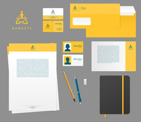 Yoga studio branding set
