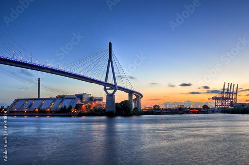 Leinwandbild Motiv Köhlbranbrücke Hamburg