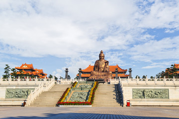 Laozi statue in yuanxuan taoist temple guangzhou