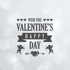 St. Valentine Day Vintage Retro Typography Lettering Design