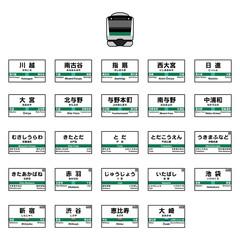 JR埼京線の駅名標
