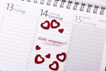 kalender - valentinstag