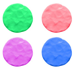 Colorful plasticine circle set